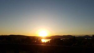 sunset on lake mempremagog