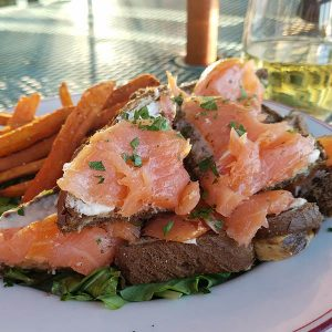 smoked salmon appetizer from Noonan's Supper CLub Newport vt
