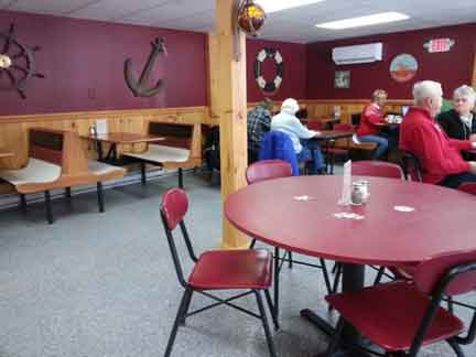 large dining room at Riley's fish house
