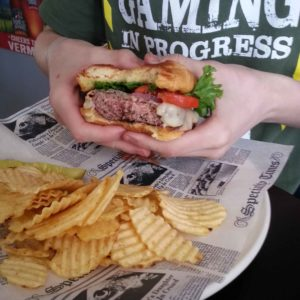 Perfectly cooked burger