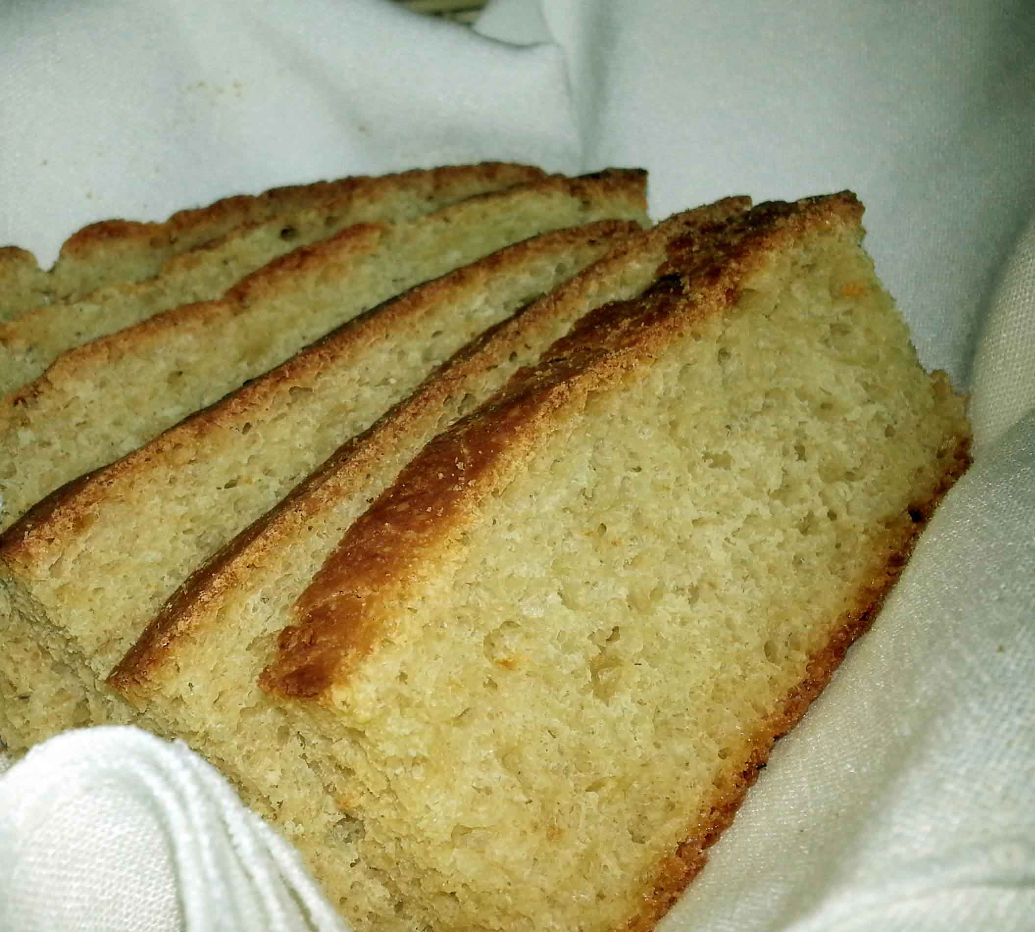 Fresh warm bread to start your meal