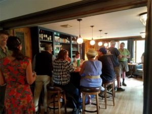 Tasting at Bar in Greensboro Vt