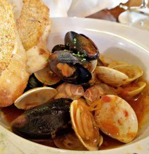 mixed seafood at this newport restaurant