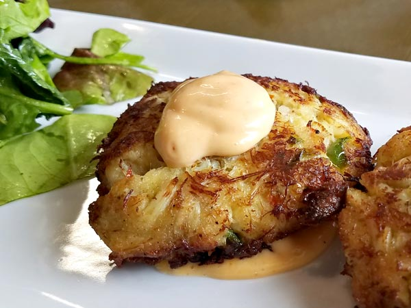 Crab cakes full of flavor at the Cider House Restaurant in Newport
