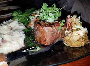 filet mignon surf and turf from jay restaurant