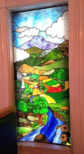 stain glass window from chinese restauratn in St. Johnsbury ,Vermont