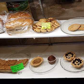 baked goods from barton bakery in barton vermont
