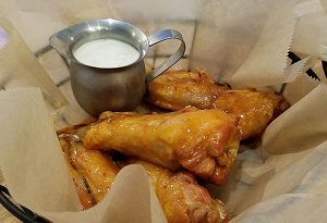 sweet chili chicken wings from Orleans COuntry Club restaurant in Orleans VT