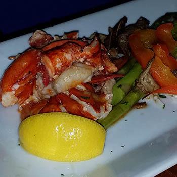 Lobster dinner from the Scale House Restaurant in Hardwick VT