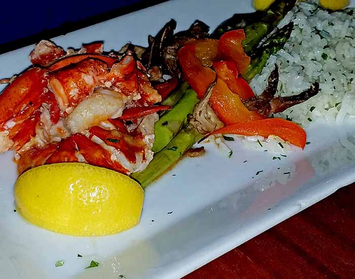 lobster dinner from restaurant in Hardwick Vermont