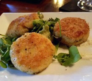 fish cakes from tapas menu - tapas restaurant in vermont