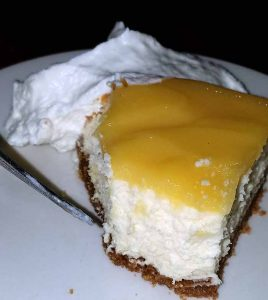 lemon cheese cake dessert from Hardwick VT restaurant