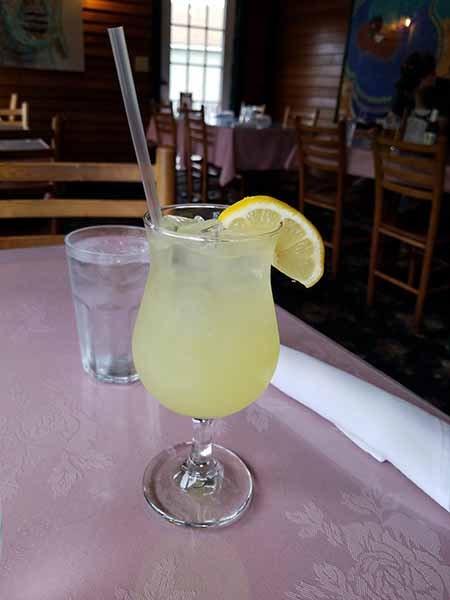 homemade lemonade from Thai restaurant in St Johnsbury vermont
