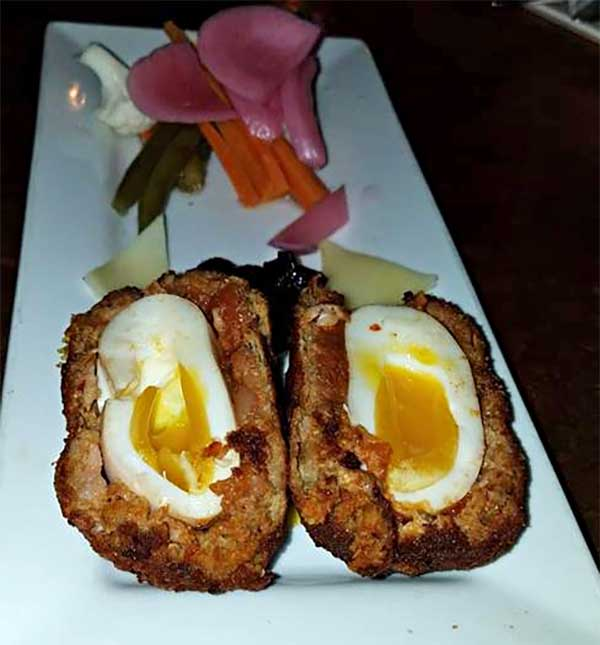 scotch egg from the pub in East Burke Vt; Burke Publick house restaurant eat burke vt