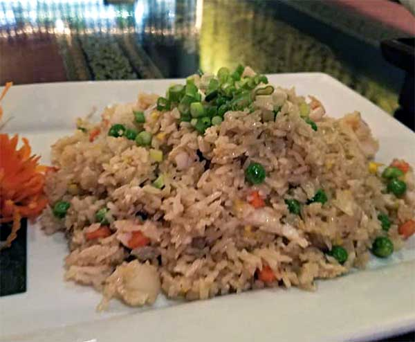 fried rice from Dusit Thai Restaurant in Newport VT