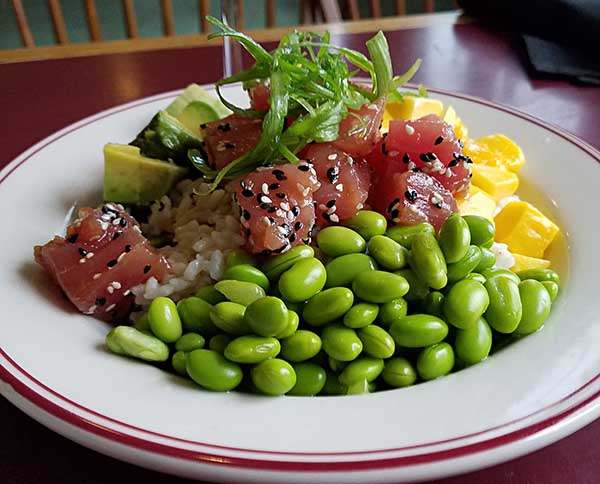 Poke, ahi tuna dish, from Noonan's Supper Club in Newport, VT