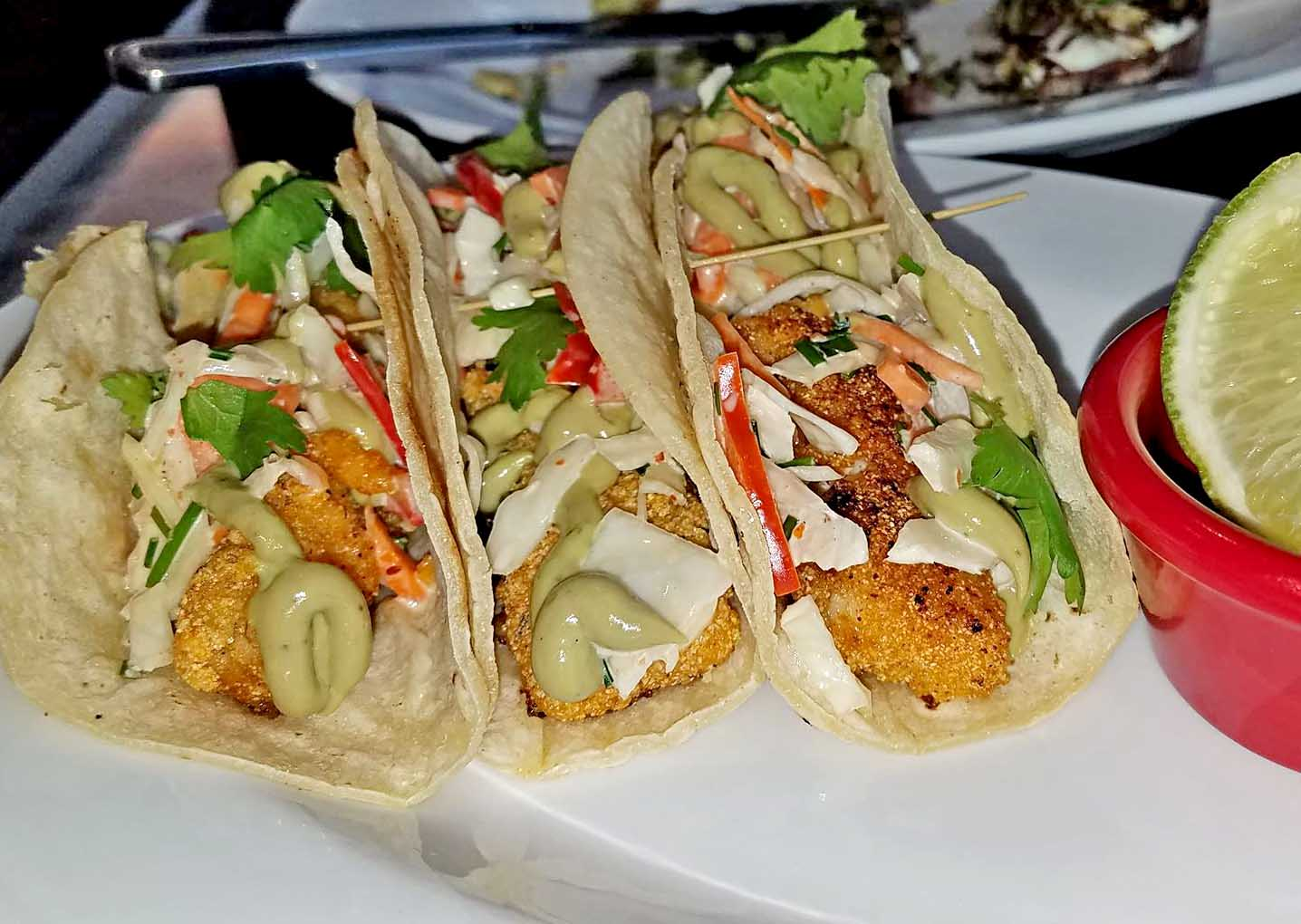 fish tacos from the Hardwick Street Cafe restaurant in Greensboro VT